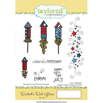 Taylored Expressions ROCKET'S RED GLARE Cling Stamp Set TEMD15