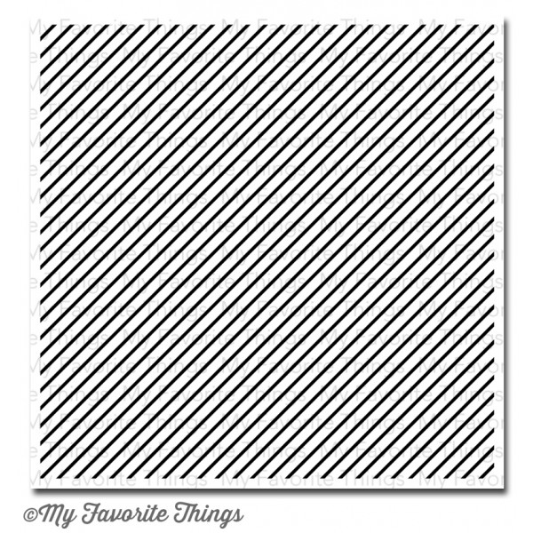My Favorite Things DIAGONAL STRIPES BACKGROUND Cling Stamp MFT zoom image