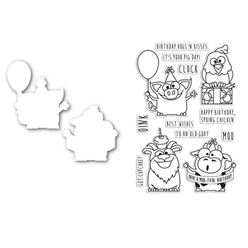 Simon Says Die and Stamp Set PARTY ANIMALS SetPA99 This is the Life