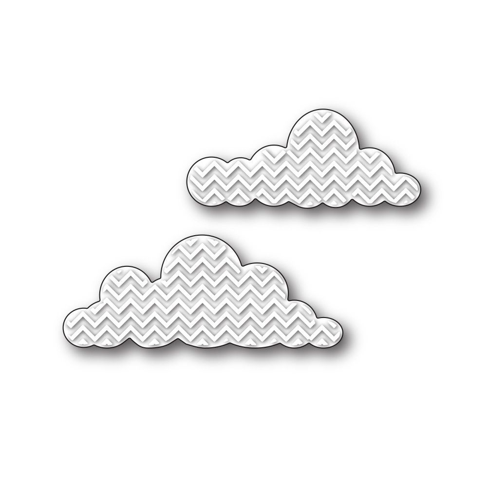 Simon Says Stamp CHEVRON CLOUDS Craft Die s234 This is the Life * zoom image