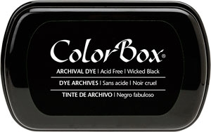 Clearsnap Colorbox WICKED BLACK Archival Dye Ink Pad 270240 zoom image