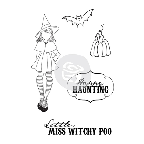Prima Marketing WITCHY POO Mixed Media Doll Cling Stamp Set 910693 Preview Image