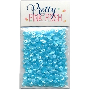 Pretty Pink Posh 4MM AQUAMARINE Cupped Sequins zoom image