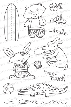 Newton's Nook Designs BEACH PARTY Clear Stamp Set 20140701 zoom image
