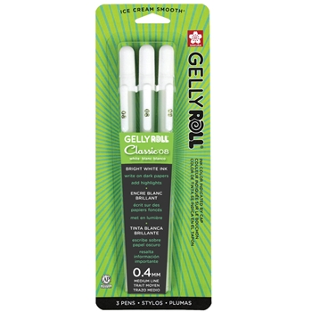 Sakura WHITE GELLY ROLL Medium Point Pens Set 37488