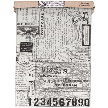 Tim Holtz Idea-ology POSTALE Tissue Wrap Paper TH93181