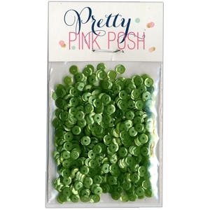 Pretty Pink Posh 4MM MOSSY GREEN Cupped Sequins