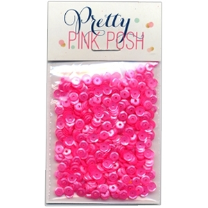 Pretty Pink Posh 4MM PINK PEONIES Cupped Sequins
