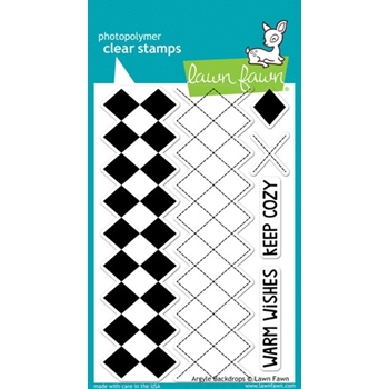 Lawn Fawn ARGYLE BACKDROPS Clear Stamps LF697*