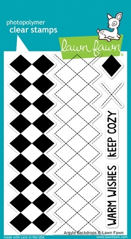 Lawn Fawn ARGYLE BACKDROPS Clear Stamps LF697 zoom image
