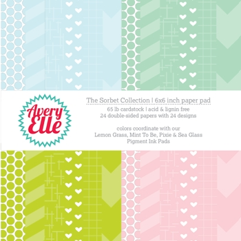 Avery Elle THE SORBET COLLECTION 6x6 Paper Pad  P-14-02 or 021501