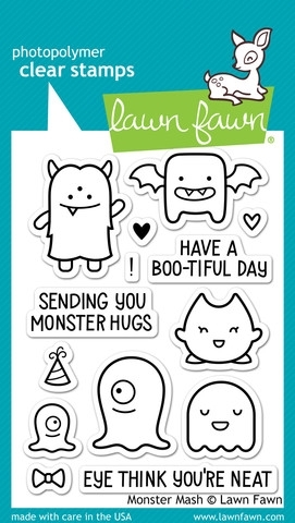 Lawn Fawn MONSTER MASH Clear Stamps LF700 zoom image