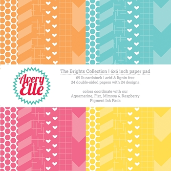 Avery Elle THE BRIGHTS COLLECTION 6x6 Paper Pad P-14-01 or 021495