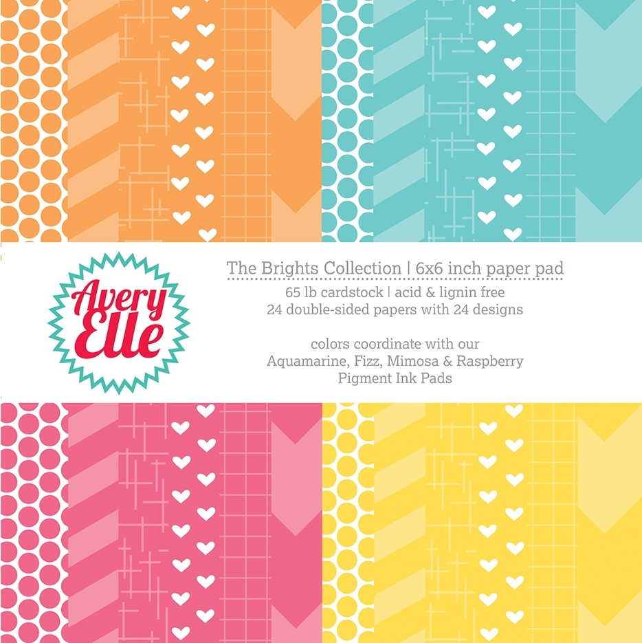 Avery Elle THE BRIGHTS COLLECTION 6x6 Paper Pad P-14-01 or 021495 zoom image