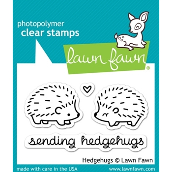 Lawn Fawn HEDGEHUGS Clear Stamps LF729