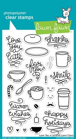 Lawn Fawn LOVE YOU A LATTE Clear Stamps LF704 Preview Image