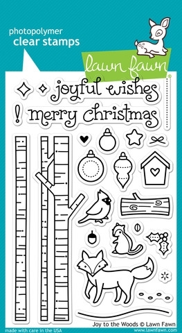 Lawn Fawn JOY TO THE WOODS Clear Stamps LF706 Preview Image