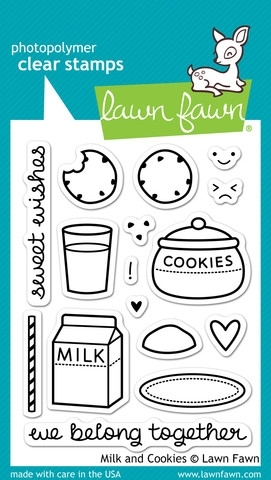 Lawn Fawn MILK AND COOKIES Clear Stamps LF725 Preview Image