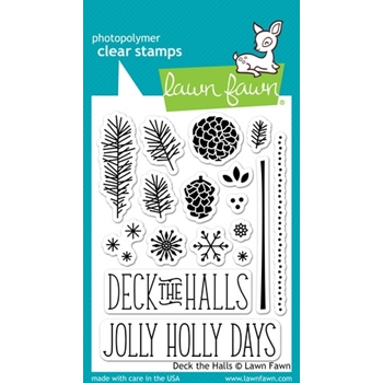 Lawn Fawn DECK THE HALLS Clear Stamps LF721