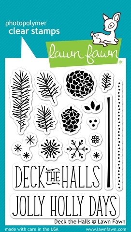 Lawn Fawn DECK THE HALLS Clear Stamps LF721 zoom image