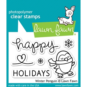 Lawn Fawn WINTER PENGUIN Clear Stamps LF727