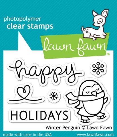 Lawn Fawn WINTER PENGUIN Clear Stamps LF727 zoom image