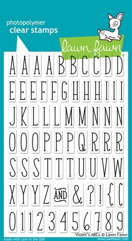 Lawn Fawn VIOLET'S ABC's Clear Stamps LF732 zoom image