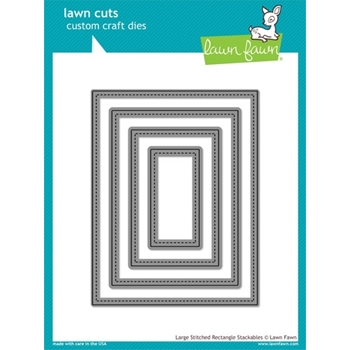Lawn Fawn LARGE STITCHED RECTANGLE STACKABLES Lawn Cuts Dies LF767