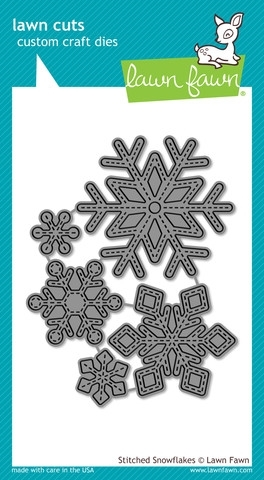Lawn Fawn STITCHED SNOWFLAKES Lawn Cuts Dies LF775 Preview Image