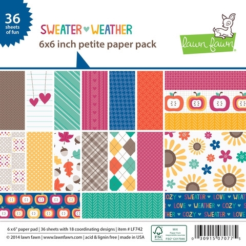 Lawn Fawn SWEATER WEATHER Petite 6 x 6 Paper Pack LF742 Preview Image
