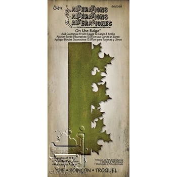 Tim Holtz Sizzix BOUGHS OF HOLLY On The Edge Die 660028
