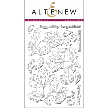 Altenew PERSIAN MOTIFS Clear Stamp Set AN122