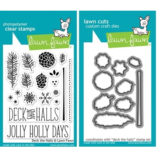 Lawn Fawn SET LF214DTH DECK THE HALLS Clear Stamps And Dies Preview Image