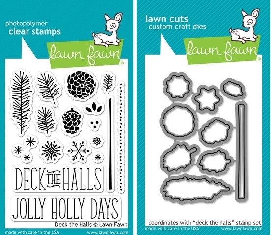 Lawn Fawn SET LF214DTH DECK THE HALLS Clear Stamps And Dies zoom image