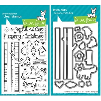 Lawn Fawn SET LF214JTTW JOY TO THE WOODS Clear Stamps And Dies