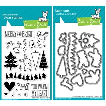Lawn Fawn SET LF214SDY SNOW DAY Clear Stamps And Dies