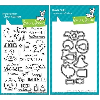 Lawn Fawn SET LF214SPK SPOOKTACULAR Clear Stamps And Dies