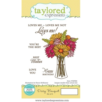 Taylored Expressions DAISY BOUQUET Cling Stamp Set TEPS60