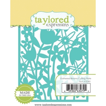 Taylored Expressions GATHERED BLOOMS Cutting Plate Die TE385