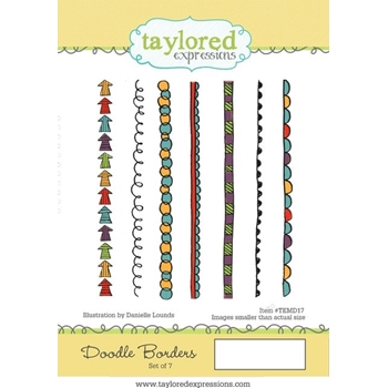 Taylored Expressions DOODLE BORDERS Cling Stamp Set TEMD17