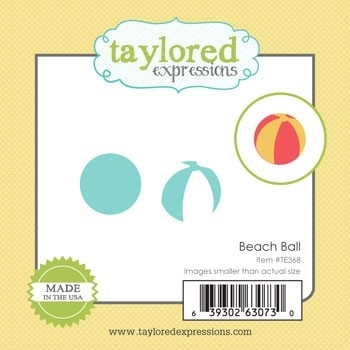 Taylored Expressions Little Bits BEACH BALL Die TE368 Preview Image