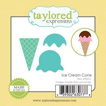 Taylored Expressions Little Bits ICE CREAM CONE Dies TE372 Preview Image