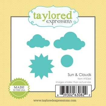 Taylored Expressions Little Bits SUN & CLOUDS TE366 Preview Image