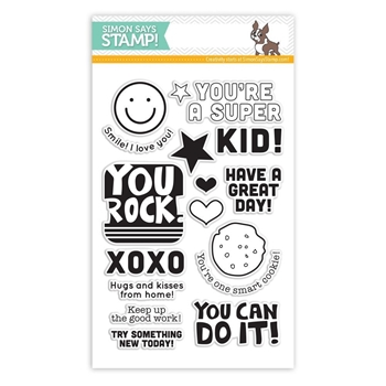 Simon Says Clear Stamps LUNCH BOX NOTES sss101418 Teacher's Pet