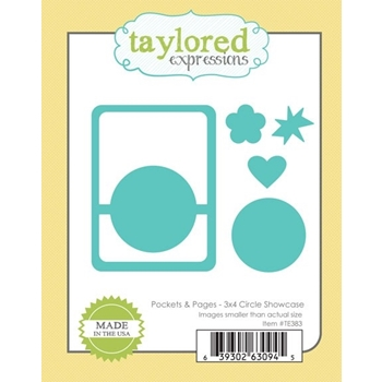 Taylored Expressions POCKETS AND PAGES 3x4 CIRCLE SHOWCASE Die TE383*