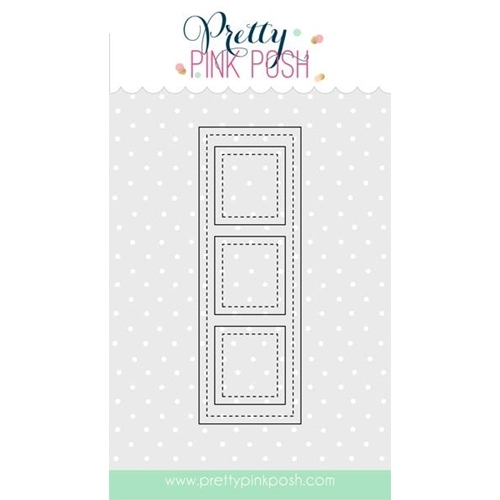 Pretty Pink Posh STITCHED FILM STRIP Steel Craft Die PPPD003 Preview Image