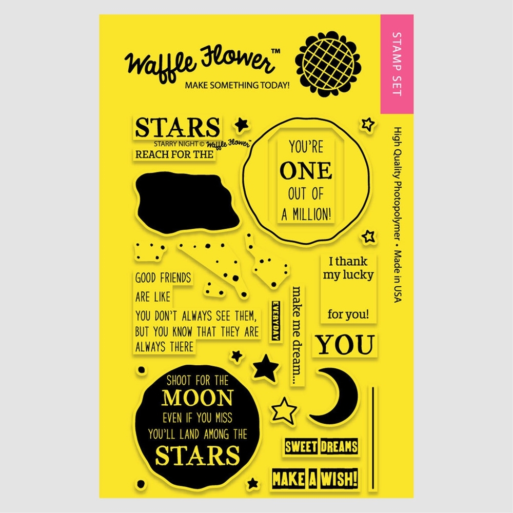 Waffle Flower STARRY NIGHT Clear Stamp Set WFS109 zoom image
