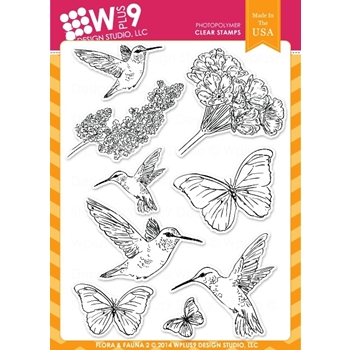 Wplus9 FLORA AND FAUNA 2 Clear Stamps CL-WP9F&F2