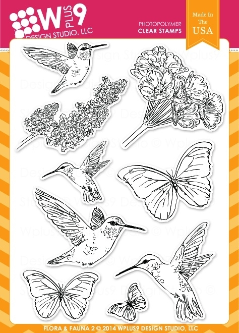 Wplus9 FLORA AND FAUNA 2 Clear Stamps CL-WP9F&F2 zoom image
