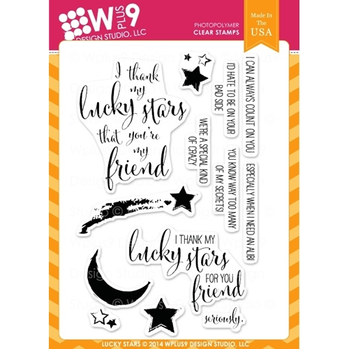 Wplus9 LUCKY STARS Clear Stamps CL-WP9LS Preview Image